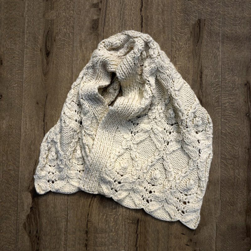 Hand Knitted Cable Shawl