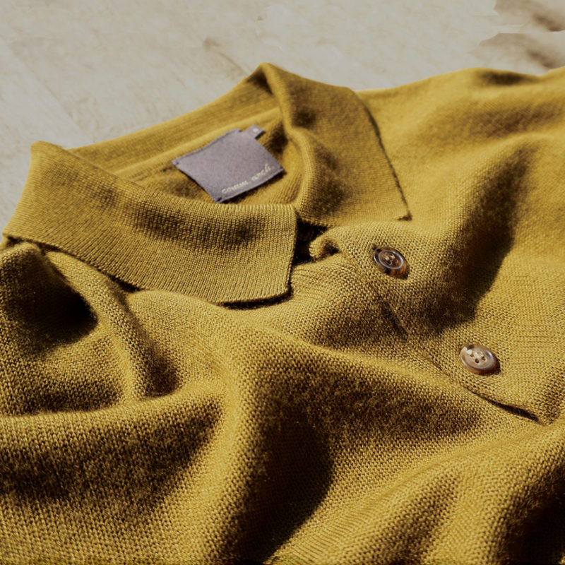 Knitted Smooth Polo L/S